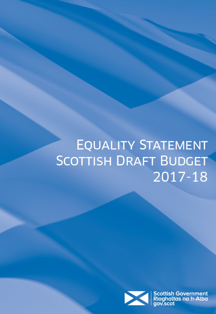 Cover of the Equality Statement Scottish Draft Budget 2017-18